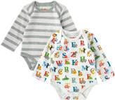 Cath Kidston Animal Alphabet Baby 2 Pack Long Sleeve Bodysuit