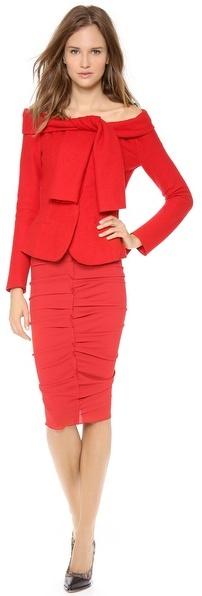 Nina Ricci Tie Shoulder Wool Jacket