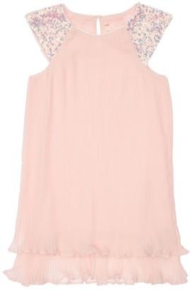Billieblush Pleated Dress W/ Sequins