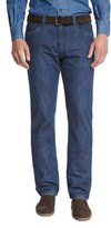 Loro Piana Straight-Leg Denim Jeans, Medium Blue