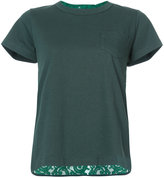 Sacai rear lace panel T-shirt