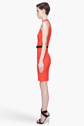 Lanvin Poppy red stretch mesh Dress