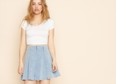 Garage Indigo Wash Flippy Skirt