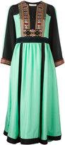 Etro embellished cuffs flared dress - women - Silk/Cotton/Nylon/Metallic Fibre - 44