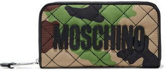 Moschino Logo-appliqued Printed Quilted Twill Continental Wallet