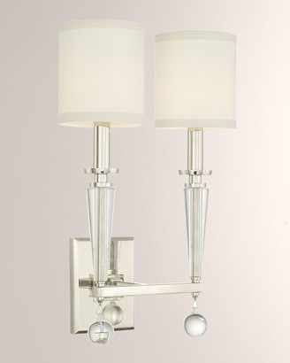 Crystorama Paxton 2-Light Sconce