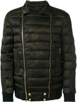 Balmain camouflage padded jacket - men - Cotton/Rayon/Feather - M
