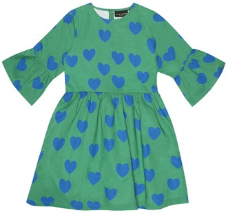 Mini Rodini Hearts printed cotton dress