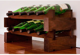 Wine Rack 10 2 Layers of 5 Bottle Width Finish: Matte Stain