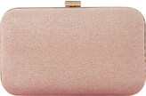 Dune Bsarah irridescent box clutch