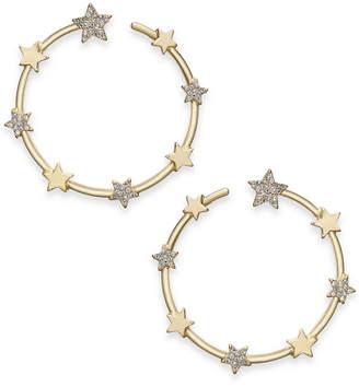 "Thalia Sodi Gold-Tone Pave Crystal Star Wrap Large Hoop Earrings, 2.1"""