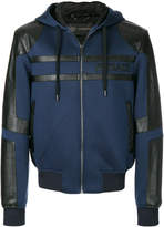 Versace panelled hooded jacket