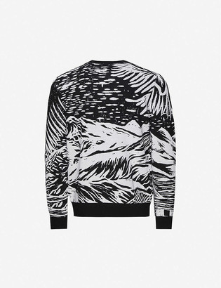 Paul Smith Abstract-pattern crewneck wool jumper