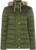 Barbour Shipper Quilted Jacket With Faux Fur Trim Hood
