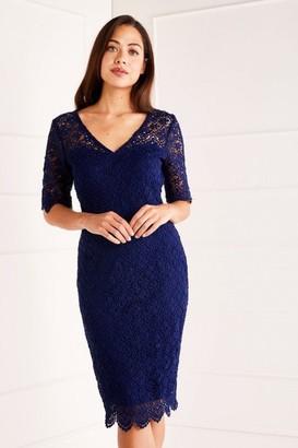 Yumi Lace Midi Dress