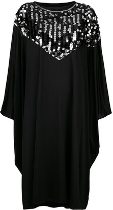 MM6 MAISON MARGIELA Sequin Trim Cape Dress