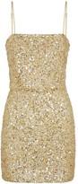 retrofete Heather Gold Sequin Mini Dress