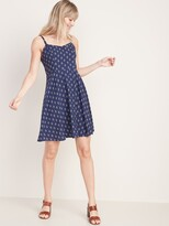 Old Navy Printed Fit & Flare Cami Dress for Women