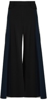 Peter Pilotto Wide-leg stretch-cady trousers