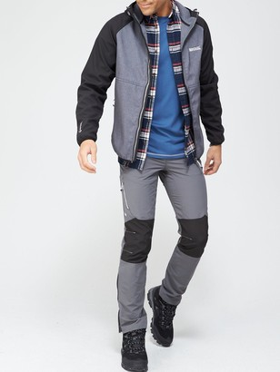 Regatta Arec Hooded Soft Shell Jacket - Black/Grey