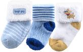 Luvable Friends Blue & Yellow Appliqué Sock Set - Infant