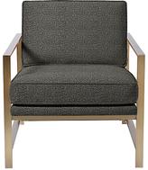 west elm Metal Frame Armchair, Charcoal