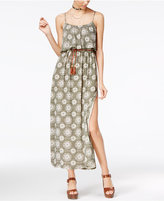 Teeze Me Juniors' Printed Popover Maxi Dress