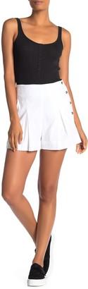 Vince Pleated Linen Blend Shorts