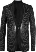 Rick Owens embroidered line jacket - men - Cotton/Linen/Flax/Cupro/Virgin Wool - 48