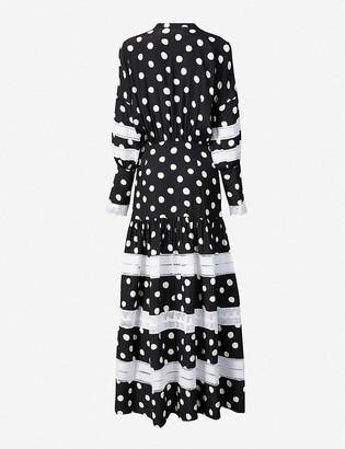 Paper London Polka dot woven maxi dress