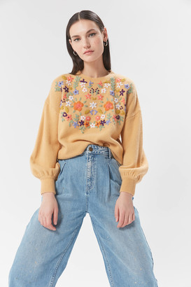 Raga Sutton Floral Embroidered Sweater