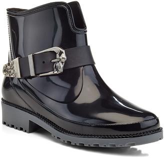 Henry Ferrera Women's Rain boots BLACK - Black Patent Buckle Rain Boot - Women