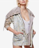 Free People Cotton Tie-Dyed Utility Jacket