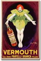 "Fratelli Branca Vermouth, 1922"" 16"" x 24"" Canvas Art by Jean d'Ylen"