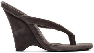 Yeezy Black Wedge Thong Sandals