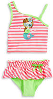 Flapdoodles Baby Girls Striped Mermaid Tankini Swimsuit Set