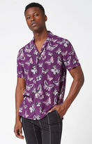 PacSun Butterflyz Short Sleeve Button Up Camp Shirt