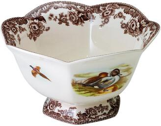 Spode Woodland Hexagonal Footed Bowl