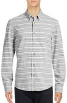 Ben Sherman Long Sleeve Tipping Horizontal Stripe Marl Shirt