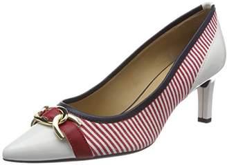 Geox Women's D BIBBIANA D Closed Toe Pumps Red (RED/WHITE C0003)