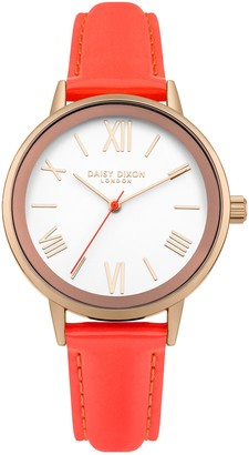 Daisy Dixon Women's Analogue Quartz Watch with Leather Strap DD046ORG