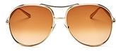 Chloé Nola Oversized Aviator Sunglasses, 60mm