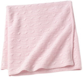 Sofia Cashmere Angel Cable Knit Baby Throw - Pink