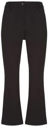 Mint Velvet Black Ponte Kickflare Trousers