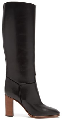 Victoria Beckham Piped Knee-high Leather Boots - Black