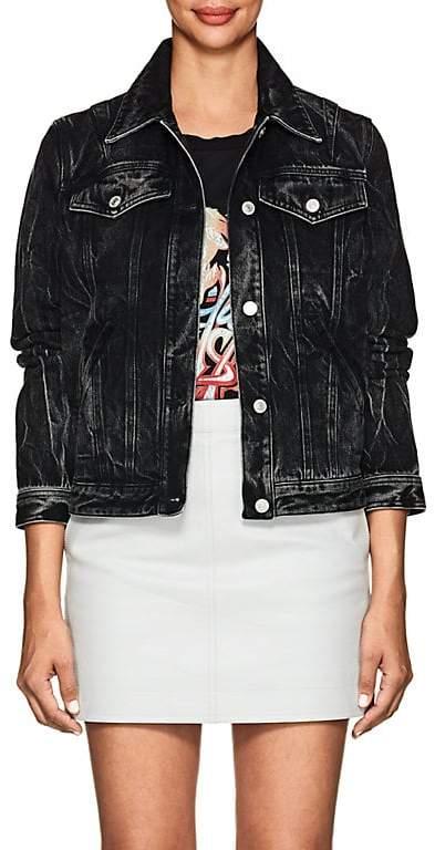 Givenchy Women's Logo Acid-Wash Denim Jacket