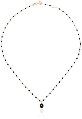 Gigi Clozeau 18k Rose Gold Black Beaded Diamond Necklace