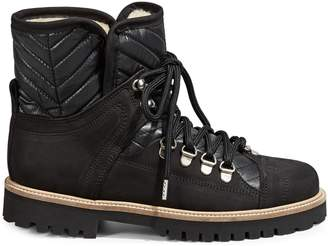 Ganni Faux Shearling-Lined Winter Hiker Boots