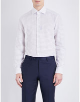 Corneliani Checked Linen-blend Shirt