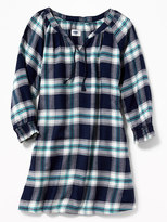 Old Navy Plaid Flannel Swing Dress for Girls